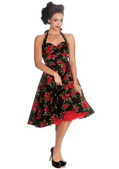 132424078981 Hell Bunny Cannes Dress Black 4254 50s Dresses, Vintage Style Dresses,  Homecoming Dresses,