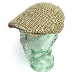 Ralph Lauren ラルフローレン 千鳥格子 ハンチングキャップ ドライビングキャップ 帽子【$65】 [031]
