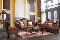 Maywood Formal Living Room Set with Chaise