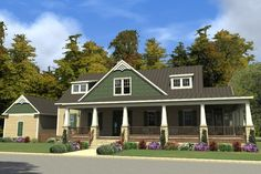 House Plan 63-409 3030 use screened porch for library. laundry room and stupid mbr sitting area need work.