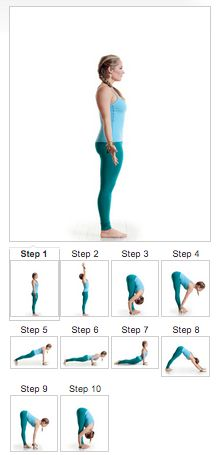 Stressed? This 10-step yoga sequence will push out the darkness and let light in....namaste. #yoga
