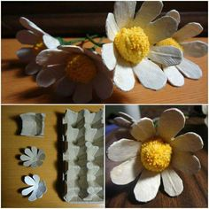 Absolutely Innovative Ways to Repurpose Reuse, and Upcycle Things that Will Have You Stunned Kids Crafts, Summer Crafts, Crafts To Do, Easter Crafts, Egg Carton Art, Egg Carton Crafts, Paper Flowers Craft, Flower Crafts, Faux Flowers