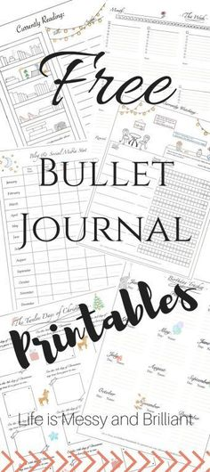 FREE Bullet Journal Printables | Life is Messy and Brilliant