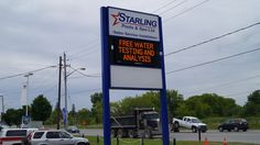 Starling Pools Whitby Electronic Digital Message Board Pylon Sign