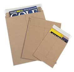 Self Seal Kraft Rigid Mailers | Stay Flat Mailer | Cardboard Photo Mailer | Shipping Supplies | eSupplyStore.com