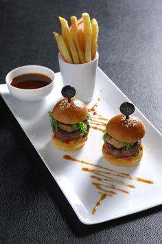 Foie gras burgers from L'atelier de Joël Robuchon