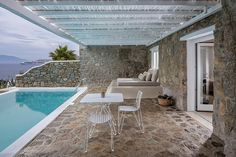 Apt-hotel sur l'île de Mykonos. Grèce.