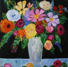"""""""Georgia"""" 36"""" x 36"""" by Carolyn Shultz SOLD"""