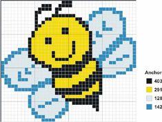 Вышивка крестом / Cross stitch : Схемы вышивки крестом - пчелы/шмели