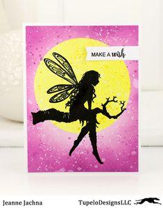 A Kept Life: TupeloDesignsLLC - Lavinia Faeries! #lavinia #treegoddess #luna #distress #faerie #fairy #card #cardmaking #stamp #stamping #masking #silhouette
