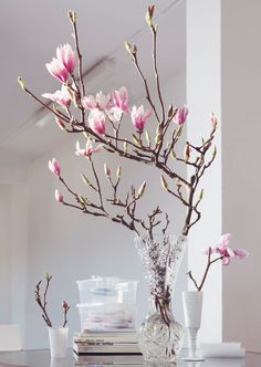 Flower miracle: our favorites for spring- Blütenwunder: unsere Favoriten für den Frühling In our WESTWING magazine, you can read all about our favorite flowers and flowers – this is the flower wonder! Tulpen Arrangements, Floral Arrangements, Centerpieces, Table Decorations, Tall Centerpiece, Spring Home Decor, Ikebana, Planting Flowers, Beautiful Flowers