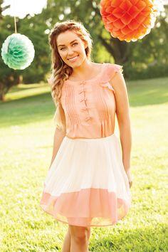 Flaunt your femininity in peaches and cream. #LaurenConrad #newarrivals #Kohls #LCKohlsFav