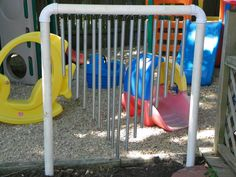 """Make an outdoor xylophone with PVC pipes metal tubes ("""",)"""