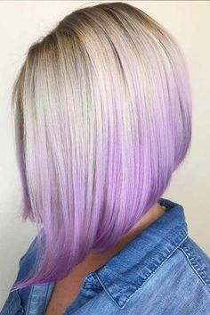 45 Trendy Ombre Hair Color Ideas Want to try ombre hair, but not sure what look? We have put together a list of the hottest ombre looks for you to try! Why not go for a new exciting look? Blond Ombre, Ombre Hair Color, Cool Hair Color, Purple Ombre, Bob Haircut For Fine Hair, Bob Hairstyles For Fine Hair, Scene Hairstyles, Trendy Hairstyles, Lilac Hair