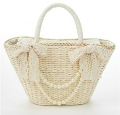 Cute Beachbag With Pearls - VIVI Magazine Clothes Asian Fashion Japan Tokyo Fashion Brand United Kingdom London