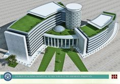510 Bed TEACHING #HOSPITAL in Pakistan Design,  Seems like a friendly  looking #environment