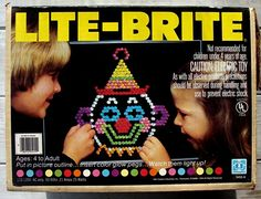 Lite-Brite: A black piece of construction paper and a hundred colored pegs.hours of fun childhood,history,My childhood,Old School, Lite Brite, 90s Childhood, My Childhood Memories, Sweet Memories, Childhood Friends, 90s Toys, Retro Toys, 80s Girl Toys, Vintage Toys 80s
