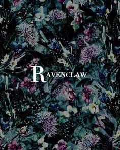 "cruvcio: "" hogwarts houses and flower art illustrations (x) """