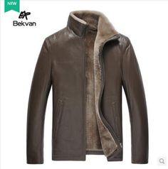 ücretsiz kargo lüks büyük tasarım kısa kürk ceket giyim erkek koyun yünü tek parça hakiki deri giyim(China (Mainland))