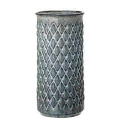 Creative Co-Op 11.75-in Slate Stoneware Vase Tabletop Decoration in the Tabletop Decorations department at Lowes.com Shabby, Creative Co Op, Beautiful Textures, Recycled Glass, Retro Design, Ceramic Vase, A Table, Stoneware, Diamond Cuts