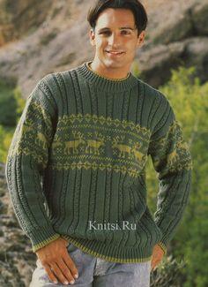 Пуловер с орнаментальной каймой