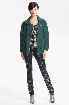 Kelly Wearstler 'Ornamented' Zip Detail Jacket available at #Nordstrom