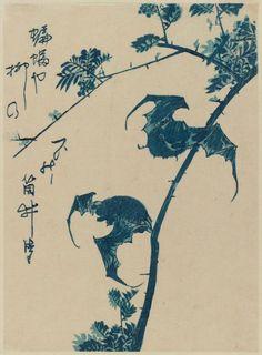 Utagawa Hiroshige - Bats, Japan, 1840-1850
