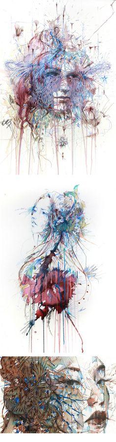 Carne Griffiths et ses portraits floraux