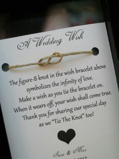Cute idea to say thank you for celebrating our big day! (: