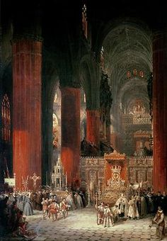 Interior of Seville Cathedral by David Roberts (1796 – 1864)
