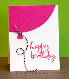 30 Handmade Birthday Card Ideas DIY Birthday Cards - Quick Balloon Birthday Card - Easy and Cheap Handmade Birthday Cards To Make At Home - Cute Card Projects With Step by Step Tutorials are Per Homemade Birthday Cards, Girl Birthday Cards, Homemade Cards, Simple Birthday Cards, Birthday Images, Birthday Cards For Husband, Diy Birthday Cards For Mom, Birthday Quotes, Homemade Gifts