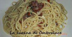 La cucina di Ombraluce: Spaghetti con pesto aromatico