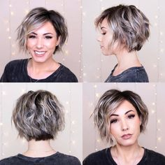 Best Bob Hairstyles You Have to Try Are you looking for a hairstyle that suits you? So you must check our collection of Bob hairstyles! They will certainly inspire you. Short Bob Hairstyles, Pretty Hairstyles, Easy Hairstyles, Short Curly Hair, Short Hair Cuts, Medium Hair Styles, Curly Hair Styles, Growing Out Short Hair Styles, Hair Color And Cut