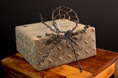 Wire Spider by DenverStreetWire on Etsy, $25.00