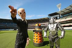 A Dalek, a Cyberman and a Silence invade the Melbourne Cricket Ground on February 2, 2012 in Melbourne, Australia