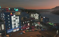 Cities: Skylines — After Dark #7 | Место развлечений