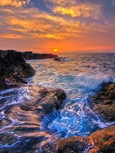 "magicalnaturetour: "" Hawaii Coast Sunset by Mark Rogers """