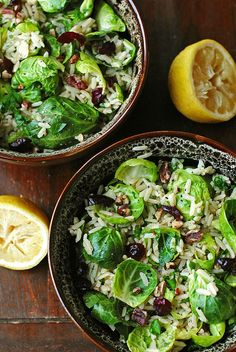 Brussels Sprouts with Lemon and Brown Rice | Eat Yourself Skinny