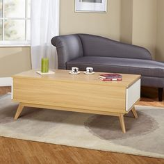 Simple Living Selena Two Drawer Coffee Table - Overstock™ Shopping - Great Deals on Simple Living Coffee, Sofa & End Tables Cool Coffee Tables, Round Coffee Table, Coffee Table Design, My Living Room, Living Room Furniture, Home Furniture, Furniture Outlet, Online Furniture, Table Furniture