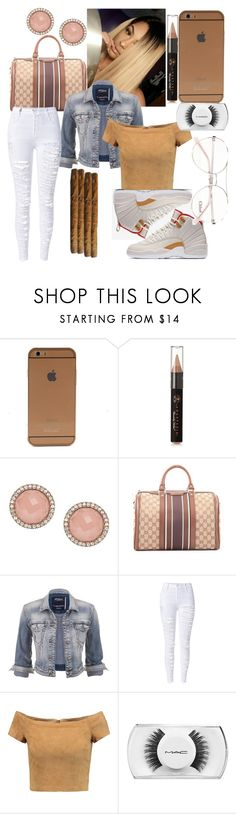 """""""😗"""" by unoriginaldes ❤ liked on Polyvore featuring Anastasia Beverly Hills, FOSSIL, Gucci, maurices, WithChic, Alice + Olivia, MAC Cosmetics and Chloé"""