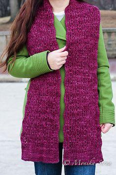 Ravelry: Cabernet Classic pattern by Monika Sirna Aran Weight Yarn, Sport Weight Yarn, Neck Scarves, Knit Scarves, Knitting Patterns, Scarf Patterns, Plymouth Yarn, Lang Yarns, Dress Gloves