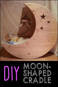 Take your little one to the moon by building this adorable moon-shaped cradle!