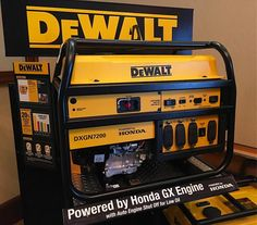 Dewalt 7200 watt generator powered by Honda 😍 If you got one what you got or what would you get? We've had a ton of luck with Honda Right… Mechanic Tool Box, Dewalt Power Tools, Mobile Workshop, Diy Generator, Workshop Design, Must Have Tools, Diy Garage, Garage Ideas, Professional Tools