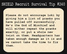 SHIELD Survival Tip #240