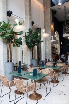Alexandre Giesbert et Julien Ross, restaurant Daroco, Paris Harmony Design, Color Harmony, Coffee Shop Design, Cafe Design, Restaurant Interior Design, Modern Interior Design, Design Hotel, Design Interiors, Modern Interiors