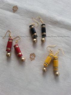 Various colored dangle earrings, terracotta jewelry, terracotta jewellery, polymer clay jewelry, dangle earrings, party wear, clay jewelry by NIRMITY on Etsy