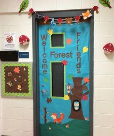 Preschool Woodland Animal Door
