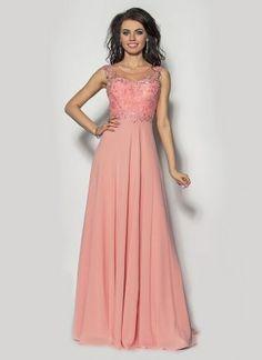 Długa sukienka z trenem Model:PW-2450