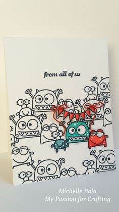 From All of Us #card by Michelle Bala for #PaperSmooches