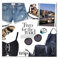 """Road Trip Style"" by fshionme ❤ liked on Polyvore featuring Frame, Colette Malouf, Summer, casual, denim, roadtrip and RetroSunglasses"